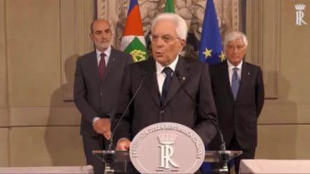 """Il discorso di Mattarella dopo le consultazioni: """"Martedì decisione definitiva"""""""