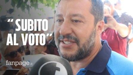 """Salvini in spiaggia a Taormina: """"L'Italia sarà salva grazie al voto degli italiani"""""""
