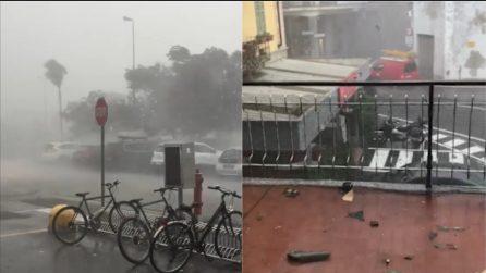 Tromba d'aria nel Verbano: violento nubifragio con grandine