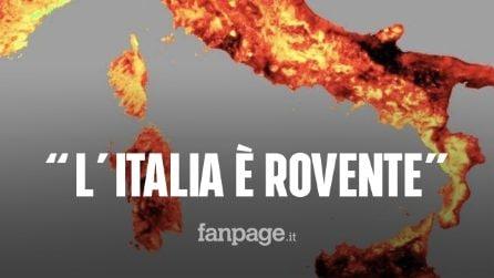 Ondata di calore, l'Italia è rovente con picchi di 50 gradi: una mappa ci mostra il caldo torrido