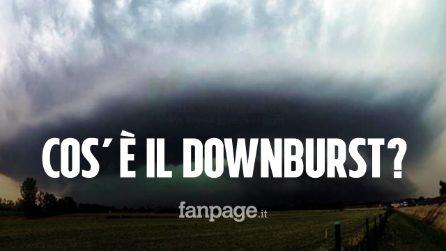 """Downburst durante i temporali? Ecco cos'è il vento forte che """"sbatte"""" a terra"""