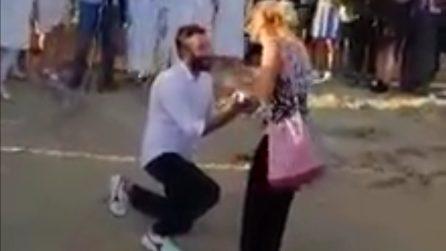 La suggestiva proposta di matrimonio all'alba nella Valle dei Templi