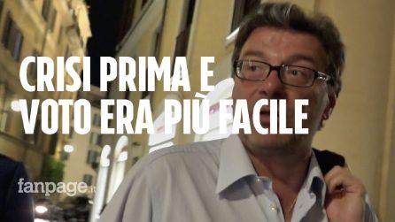 """Crisi, nemmeno Giorgetti sa cosa succede ora: """"Salvini poteva aprire crisi prima, più facile votare"""""""