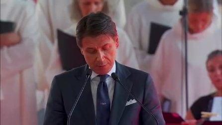 Crollo del ponte Morandi: le parole di Conte alla celebrazione dell'anniversario