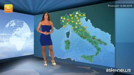 Previsioni meteo per venerdì, 16 agosto