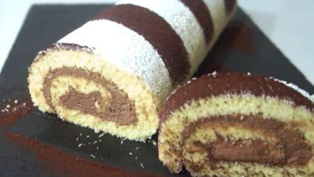 Rotolo con mousse al cioccolato: semplice, veloce e goloso