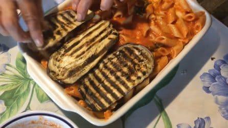 Timballo di pasta con melanzane grigliate: una vera delizia