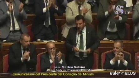 Salvini: Popolo italiano sovrano, idea di figli con mamma e papà