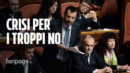 """Salvini al Senato: """"Ora elezioni, pur di non votare fareste il governo della fata Turchina!"""""""