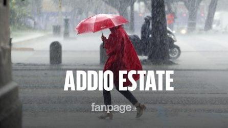 Addio Estate: nei prossimi giorni in arrivo tre cicloni con pioggia, vento e grandine