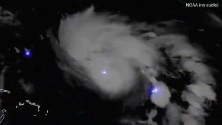 Uragano Dorian, la danza dei fulmini: le immagini della Nasa