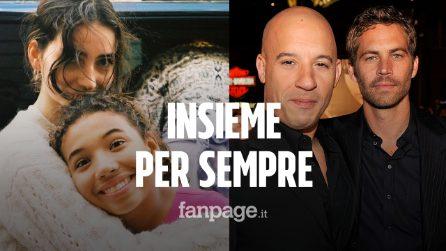"""Le figlie di Paul Walker e Vin Diesel insieme in foto: """"Con il mio angelo"""""""