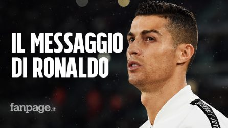 """Cristiano Ronaldo e il messaggio ai bambini: """"È un mondo selvaggio, non lasciatevi abbattere"""""""
