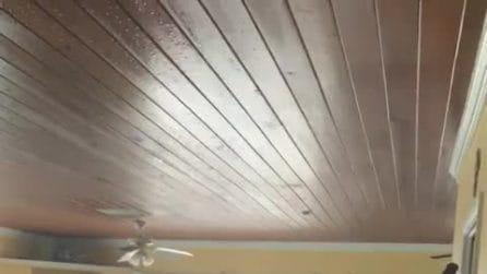 Uragano Dorian, l'acqua arriva al secondo piano di un'abitazione: da brividi