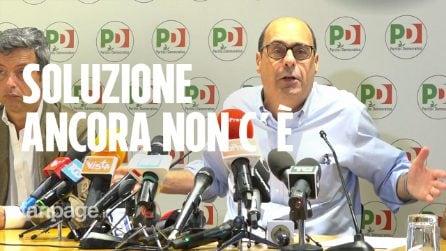"""Crisi di governo, Zingaretti: """"Da M5S serve discontinuità, soluzione ancora non c'è"""""""