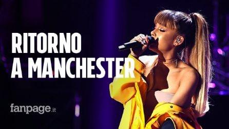 """Ariana Grande torna a Manchester a due anni dall'attentato: """"Siete il mio cuore"""""""