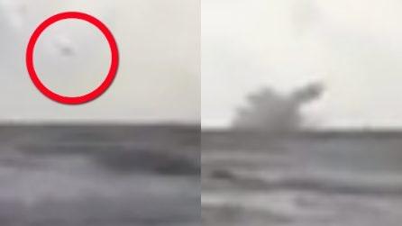 Aereo militare precipita nel mar Mediterraneo