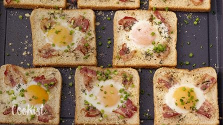 Egg in hole sandwich: ready in 10 minutes, easy and tasty!