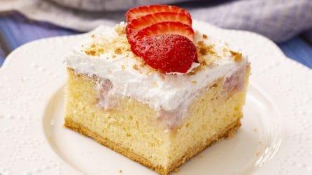 Poke cake alla fragola: un dolce facile e veloce da preparare!