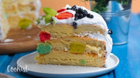 Polka dot cake: perfect for a special birthday!