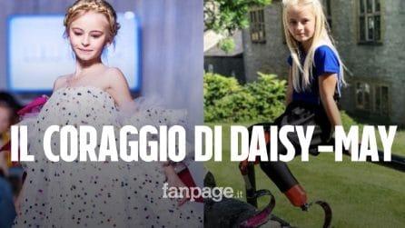Daisy-May Demetre, prima baby modella con le gambe amputate che sfilerà alle Settimane della Moda