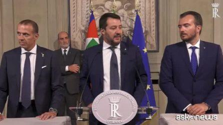 """Consultazioni, Salvini: """"PD e M5s, la guerra di poltrone è spettacolo indegno"""""""