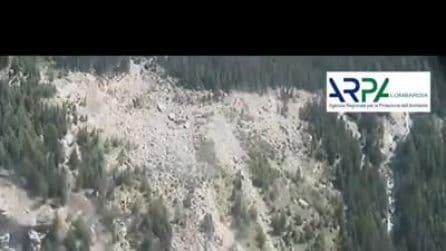 Frana del Ruinon in Valfurva: le immagini dell'impressionante movimento della montagna