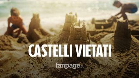 """Vietato fare i castelli di sabbia sulla spiaggia: """"Motivi di sicurezza"""". Ma è polemica"""