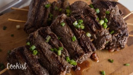 Beef carpaccio rolls: real nice to eat them as an appetizer!
