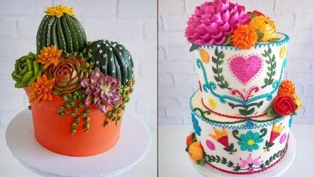 Piante o dolci? Leslie Vigil, la cake artist delle torte che sembrano ricamate con ago e filo