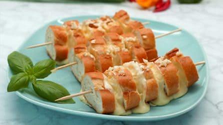 Spiedini di baguette: l'idea sfiziosa perfetta come antipasto!