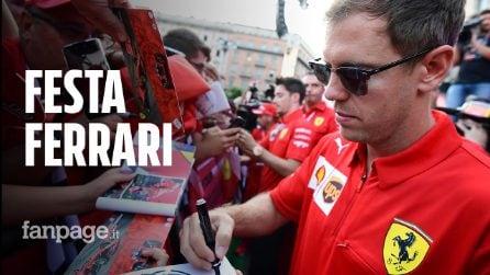 """Festa Ferrari in Duomo a Milano, Lapo Elkann a Schumacher: """"Speriamo torni presto quello di prima"""""""