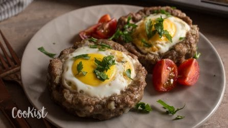 Meat and eggs cups: they are not only super easy to make, they are absolutely gorgeous!