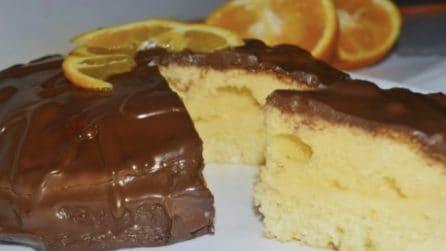 Torta con crema all'arancia e cioccolato: soffice, golosa e profumata