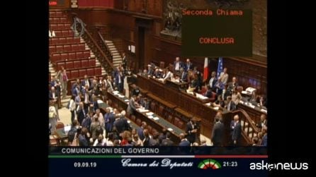 La Camera approva la fiducia al governo Conte: 343 sì, 263 no