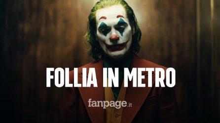 Follia in metro: uomo travestito da Joker e armato con pistola finta scatena il panico