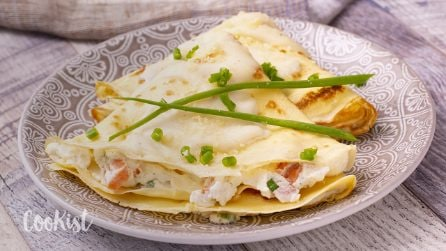 Creamy salmon crepes: a savory version to try!