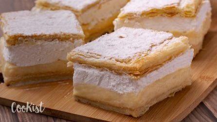 Kremsnita: a fluffy and airy vanilla custard cake you'll fall in love with!