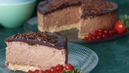 Cheesecake al cioccolato senza cottura: un dessert delizioso