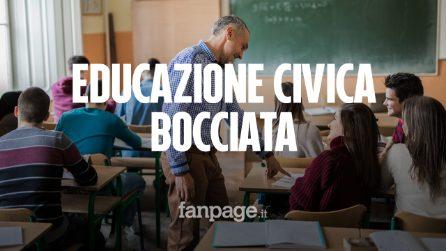 Niente educazione civica a scuola nel 2019: ecco quando potrebbe essere reintrodotta