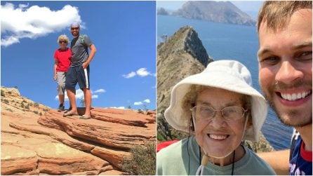 La nonna 85enne non ha mai visto il mare né una montagna: la porta con sé in giro per il mondo