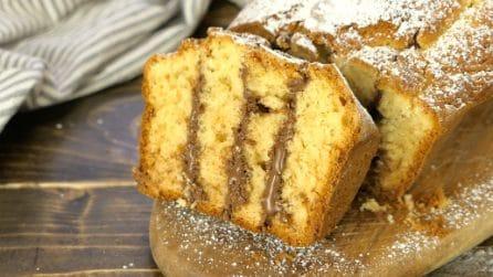 Plumcake farcito con crema di nocciole: soffice e goloso come non l'avete mai provato!