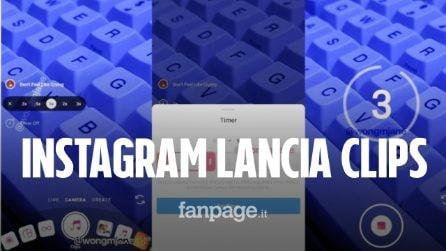 Instagram sta per lanciare Clips: permetterà di tagliare e montare video nelle Storie