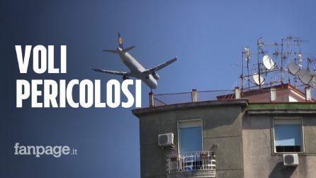 """Troppi aerei a bassa quota su Napoli: """"Decolli e atterraggi ogni 3 minuti sulle nostre case"""""""