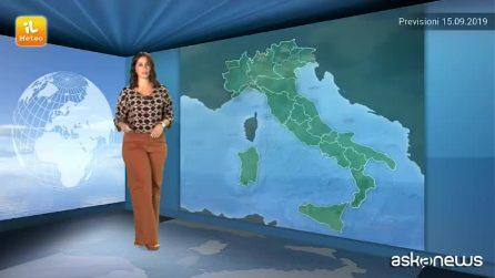 Previsioni meteo per domenica, 15 settembre