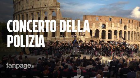 """La banda della Polizia di Stato suona all'ombra del Colosseo: da """"Rugantino"""" a 'Il Gladiatore'"""
