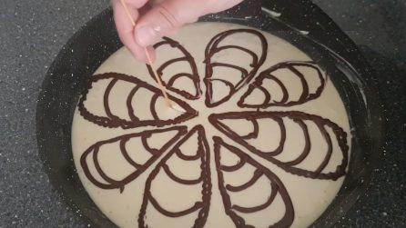 Torta variegata cotta in padella: veloce e soffice
