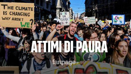 Fridays For Future, terrore a Palermo: ragazzi vestiti di nero irrompono nel corteo pacifico