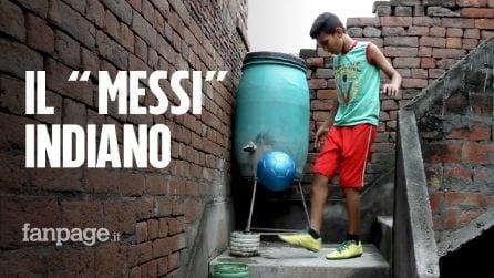 """Il """"Messi indiano"""" ha 12 anni e dribbla la povertà con la forza del suo cuore"""