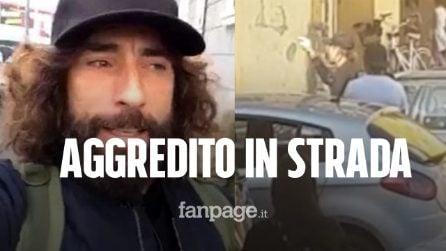 Aggredito Brumotti: l'inviato e la troupe di Striscia la Notizia accerchiati e spintonati a Pescara
